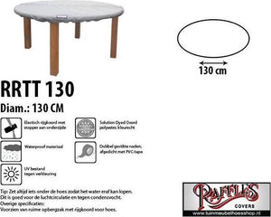 Tafelbladhoes rond Ø: 130 cm NW-RRTT130, Raffles Covers