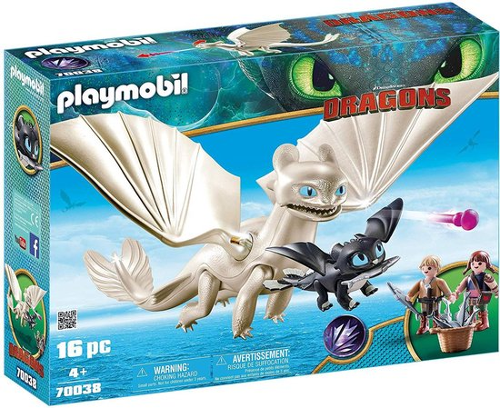 PLAYMOBIL Dragons Hemelfeeks en Babydraak met kids - 70038, PLAYMOBIL