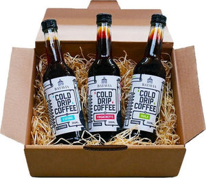 Batavia Cold Drip Coffee geschenkverpakking - 3 x 350ml - single origin cold drip coffees in geschenkverpakking - het meer smaakvolle alternatief voor cold brew koffie, Batavia Cold Drip Coffee