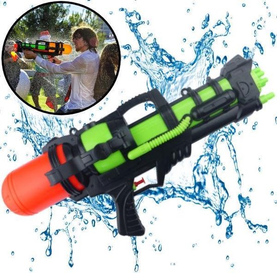 XL Waterpistool - Super soaker waterpistool - Jumbo waterkanon - Dubbel Shots supersoaker water pistool voor kinderen - Waterspeelgoed Watergeweer - Water gun met groot water reservoir - Decopatent®, Decopatent