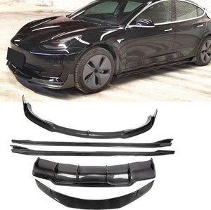 Tesla Model 3 Carbon Fiber Body Kit | Exterieur Set | Bumper | Spoiler | Side Skirts | Rear Diffuser | Tesla, D2H