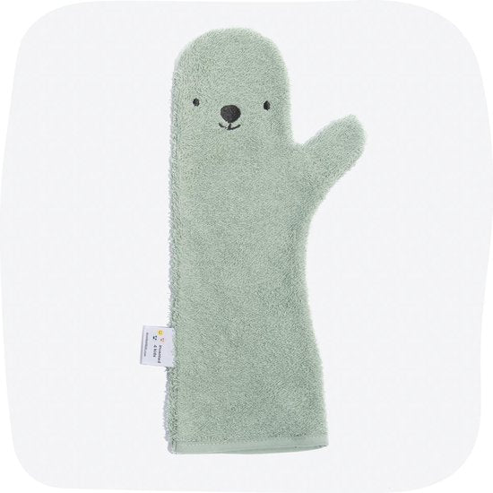 Baby Shower Krokodil Baby Washandje - Groen, Baby Shower Glove