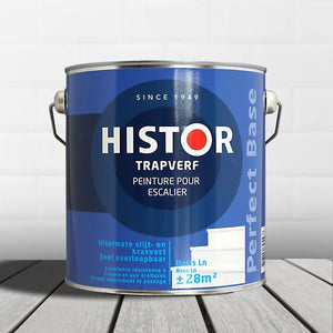 Histor Perfect Base  Acryl Zijdeglans Trapverf 2,5 liter wit, Histor