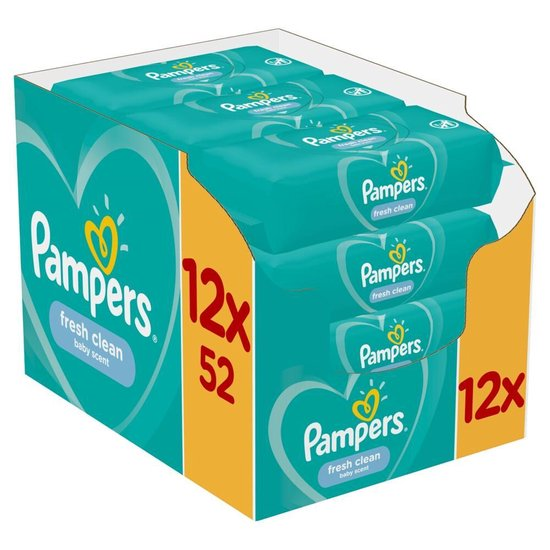 Pampers Fresh Clean Billendoekjes - 624 stuks, Pampers