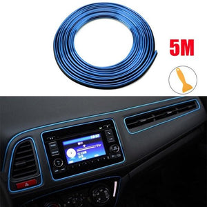 Auto Interieur Strips - Decoratie Strip - Auto - Interieur - Auto Styling - 5M - Blauw, Merkloos