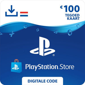 100 euro PlayStation Store tegoed - PSN Playstation Network Kaart (NL), Sony digitaal