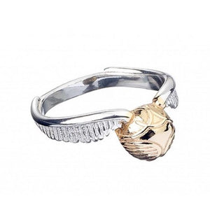 HARRY POTTER - Sterling SILVER Golden Snitch Ring- Medium, Harry Potter