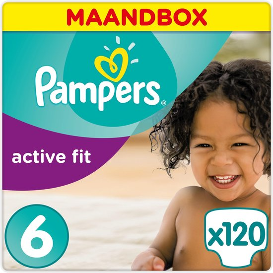 Pampers Active Fit Luiers - Maat 6 - 120 Stuks, Pampers