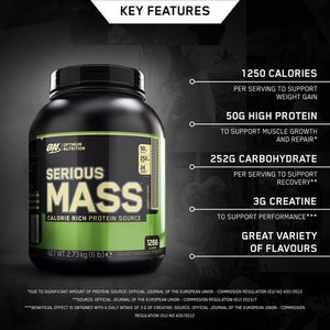 Optimum Nutrition Serious Mass - Weightgainer - 2724 g - Cookies & Cream, Optimum Nutrition