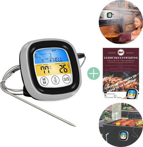 Digitale vlees thermometer + gebruiksaanwijzing- Touchscreen - Kernthermometer - BBQ - Keuken - Oven- Thermometer - Kookwekker, Business & Friends