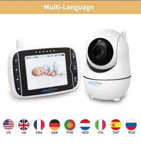 Video Times babyfoon HB50 2020 - 5.0 Inch - draadloze digitale video camera + 4 pakjes Huggies, Video Times