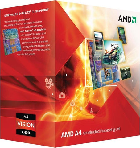 AMD A series A4-3400 processor 2,7 GHz Box 1 MB L2, AMD