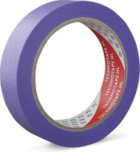 Maskingtape Low-Tack 25 Mm X 50 Mtr Paars, TECHNOTAPE