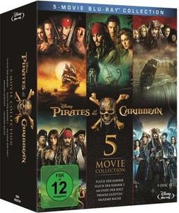 Pirates of the Caribbean 1-5 (Blu-ray), Merkloos