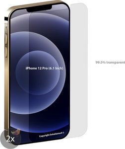 iphone 12 Pro screenprotector - S4 Ultra Sterk Glas - 6.1 Inch - iPhone 12 Pro screenprotector glas - 2 stuks - screenprotector iphone 12 Pro - screen protector iPhone 12 Pro, Solutionss4