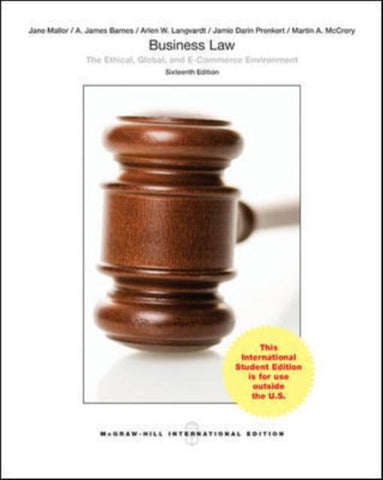 Business Law, Jane Mallor