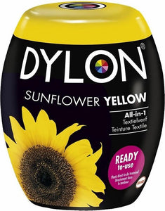 DYLON Wasmachine Textielverf Pods - Yellow Sunflower - 350g, DYLON