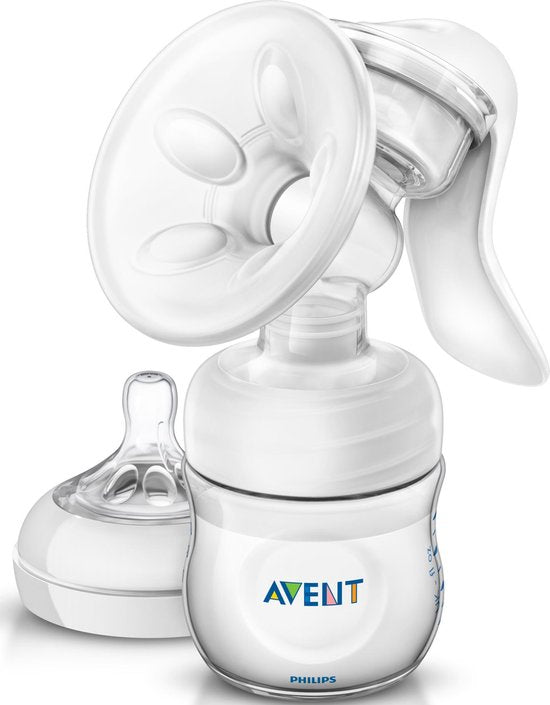 Philips Avent SCF330/20 Handmatige borstkolf - met Philips Avent Natural babyfles -125 ml, Philips