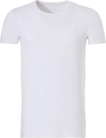 Ten Cate - Heren Bamboo Basic Ronde Hals T-Shirt Wit - L, Ten Cate