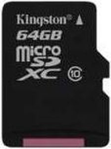 SDCX10/64GBSP 64GB Micro SDXC Class 10 Flash Card Single Pack w/o Adapter, Kingston
