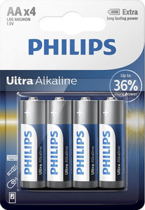 Philips AA Ultra Alkaline Batterijen, Philips