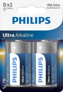 Philips LR20E2B - D batterij - 2, Philips