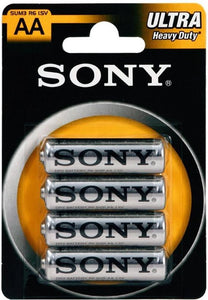 Sony AA Ultra Heavy Duty Alkaline Batterijen, Sony