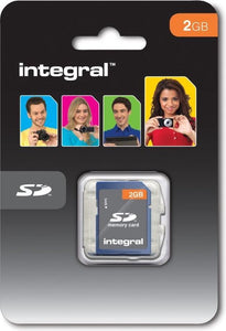 Integral 2GB SD Card 2GB SD flashgeheugen, Integral