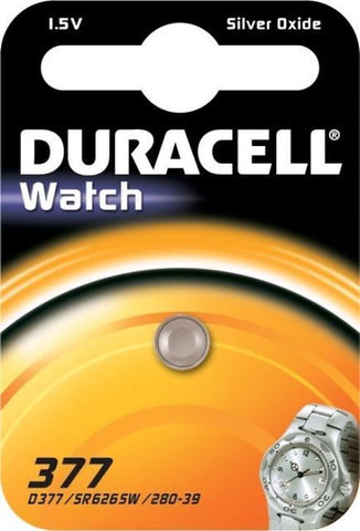 1x Duracell 377-376 / G4 / SR626SW watch battery BL075, Duracell