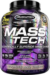Muscletech Mass-Tech-3200-Cookies & Cream, MuscleTech