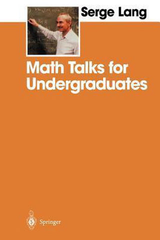 Math Talks for Undergraduates, Serge Lang