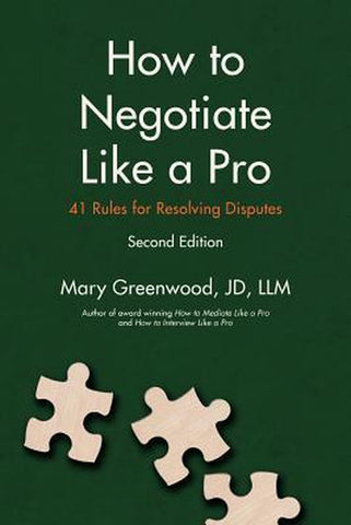 How to Negotiate Like a Pro, Mary Greenwood
