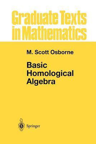 Basic Homological Algebra, Osborne, M. Scott