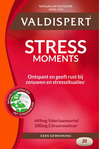 Valdispert Stress Moments Voedingssupplementen - 20 Tabletten, Valdispert
