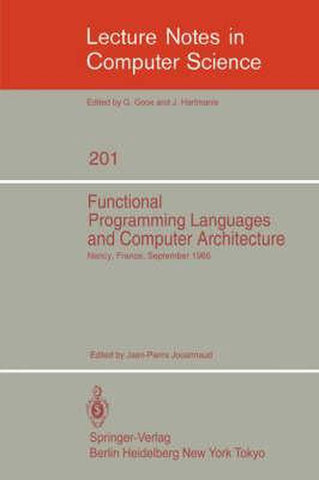 Functional Programming Languages and Computer Architecture, Springer