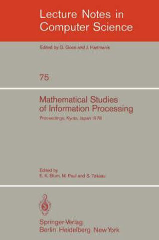 Mathematical Studies of Information Processing, Springer