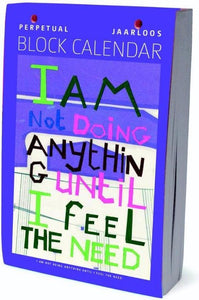I am not doing anything scheurkalender 2015, Joanneke Meester