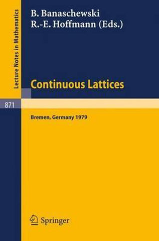 Continuous Lattices, Springer