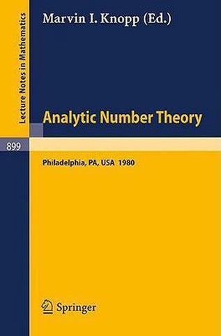 Analytic Number Theory, Marvin I. Knopp