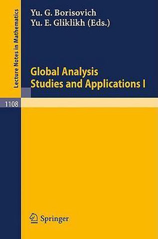 Global Analysis. Studies and Applications I, Springer