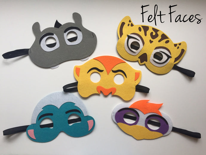 Lion Guard Party Masks, Lion Guard Party Favors, Lion Guard Party Supplies