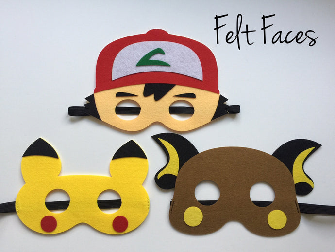 Pokemon Party Masks, Pokemon Party Favors, Pokemon Party Decorations, Pokemon Party Supplies