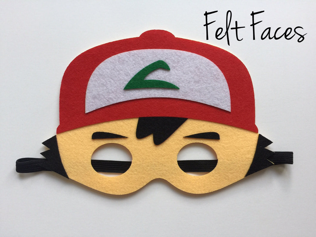 Ash the Pokemon Trainer Mask, Pokemon Party Supplies, Pokemon Party Favors