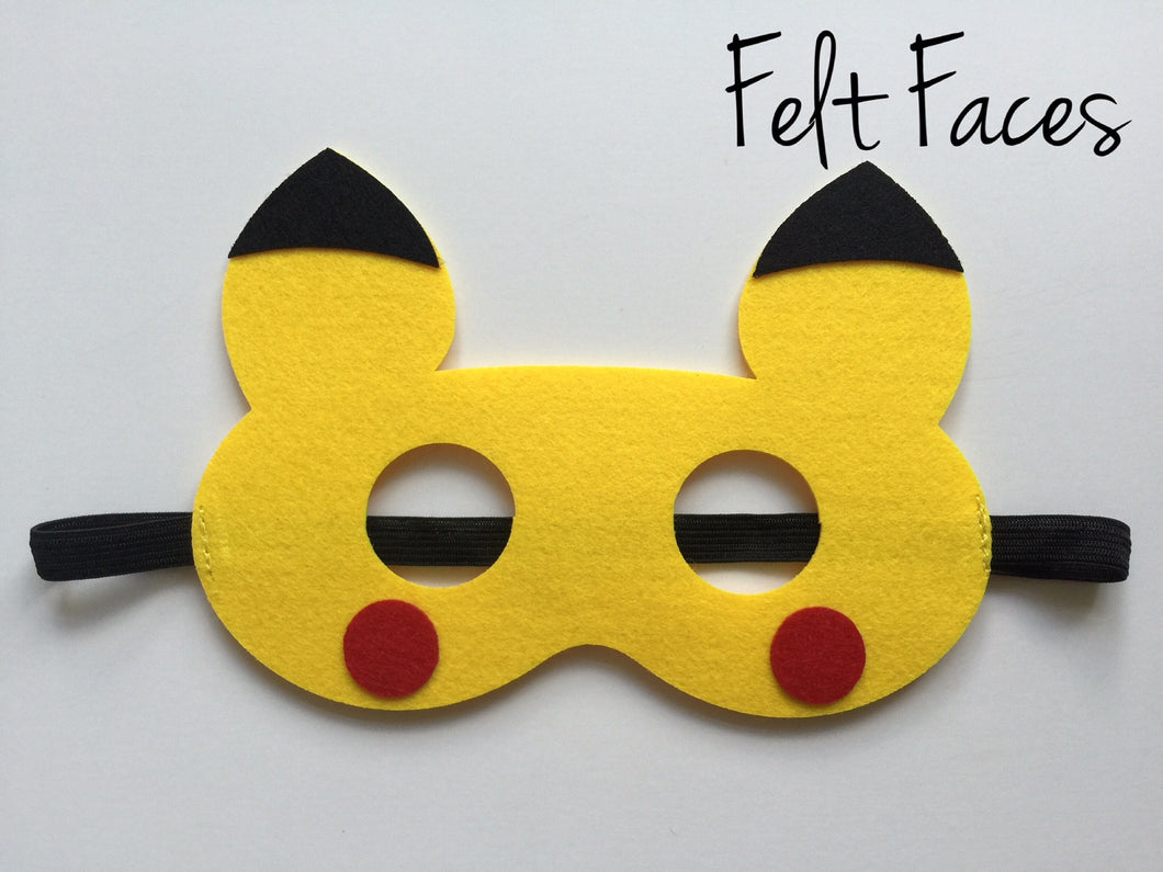 Pikachu Party Mask, Pokemon Party Decorations, Pokemon Party Ideas