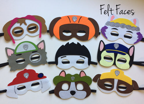 Dog Patrol Party Masks, Dog Party Favors, Dog Party Ideas