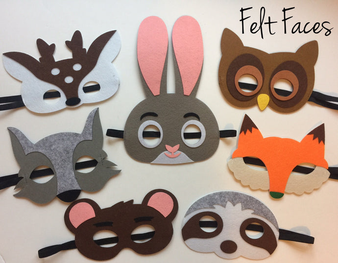 Woodlands Animal Party Masks, Woodlands Party Favors, Woodlands Party Decorations