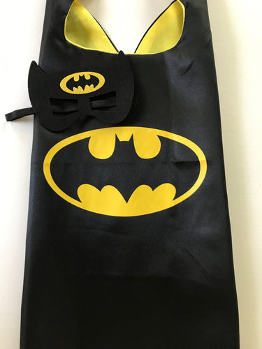 Batman Cape Mask Set, Superhero Party Favors, Superhero Birthday, Batman Party, Superhero Party Favors, Batman Party, Superhero Costume, Kids Batman Costume