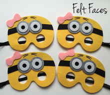 Girl Minion Party Masks, Minion Party Favors, Despicable Me Party
