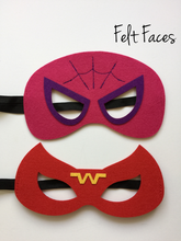 Girls Superhero Party Masks, Girls Superhero Party Favors, SuperGirls Themed Party Ideas, Batgirl, Supergirl, Wonder Woman