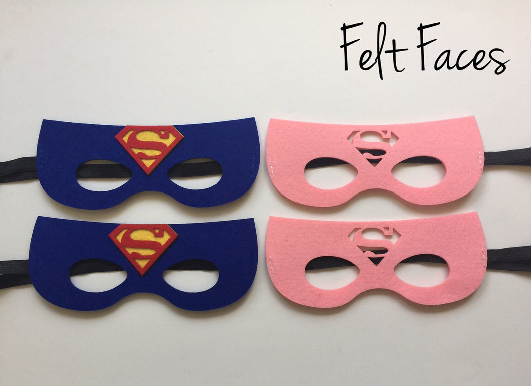 Superman & Supergirl Superhero Party Masks, Superhero Party Favors, Superman Party Ideas, Supergirl Party Ideas, Superhero Party Ideas